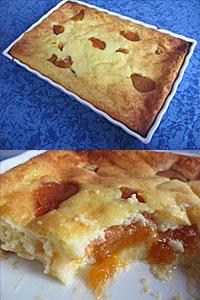 Gateau fromage blanc abricots Table des lutins